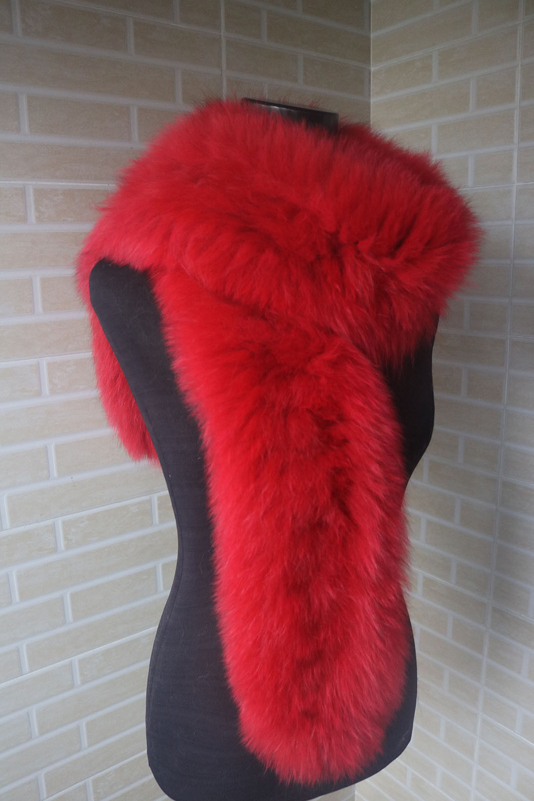 Braid 100% Genuine fox fur scarf /cape/ collar / wrap r