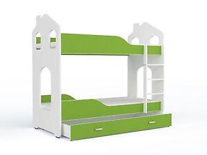 Etagenbett Grün : Kinderhaus bett kinderbett etagenbett hochbett stockbett spielbett