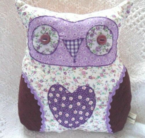 Beginners Craft Kit Owl Cushion Kit Purple Fabric Easy Sewing Craft Kit CHILDREN