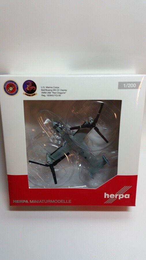 Herpa 557788 - 1 200 Bell Boeing Mv-22 Osprey - US Marine Corps - Neu