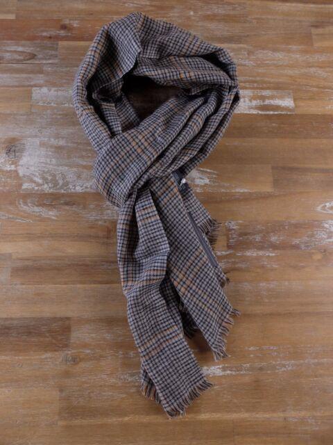 ERMENEGILDO ZEGNA scarf lightweight plaid silk cashmere Italy authentic NWT