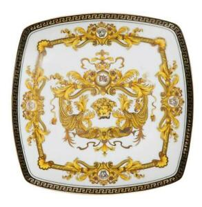 10-034-Euro-Porcelain-Medusa-Fine-Bone-China-Dinner-Plate-24K-Gold-White-Dish