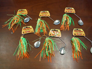 6 Count Northland Fishing Tackle Reed Runner Single Blade Spinnerbait 3/8 oz