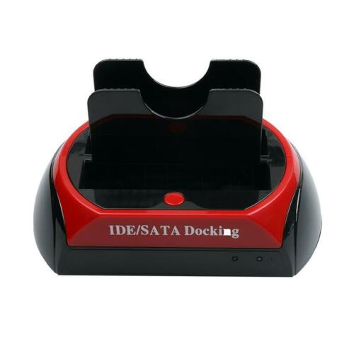 Hot HDD Dock Station Dual USB 2.0 2.5// 3.5 Inch IDE SATA External HDD Box