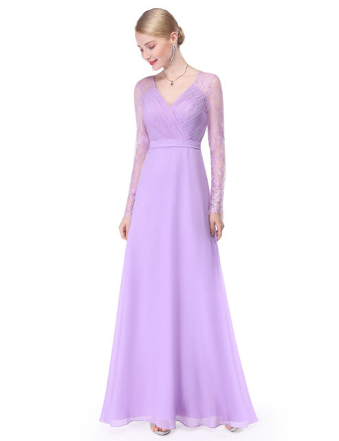 Lavender Evening Dress