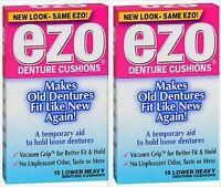 Ezo Denture Cushions Heavy Cushions Lowers 15ct ( 2 Boxes )