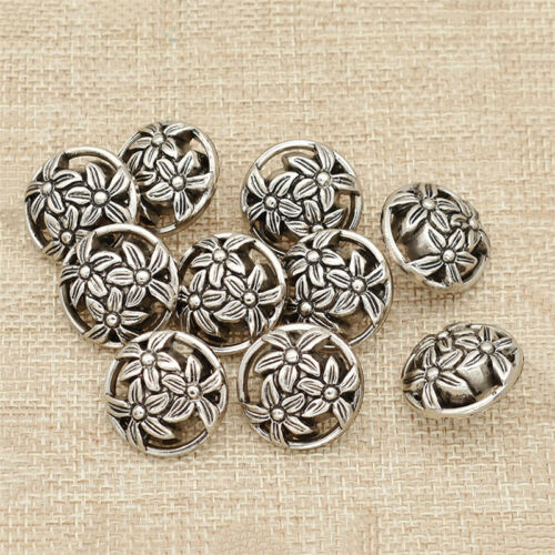 Hollow Out Plastic Flower Buttons Garment Accessories DIY Making Materials