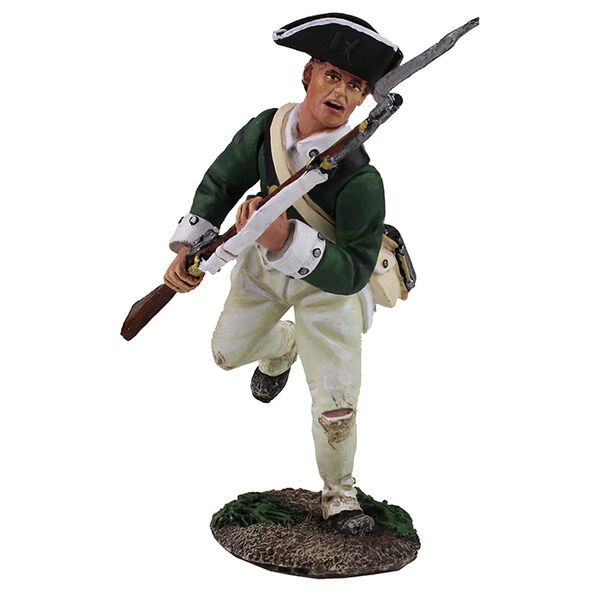 BRITAINS SOLDIERS 16028 - Loyalist Butler's Ranger Charging with Bayonet 1778-84