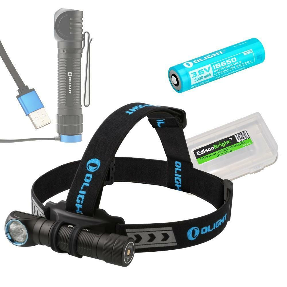 Olight H2R 2300 Lumen Cool Cool Cool Weiß CREE LED Rechargeable Headlamp w/ Battery 96712c