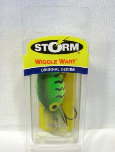 Storm Original 3//8 oz Hot Tiger WIGGLE WART plug lure bass Fishing