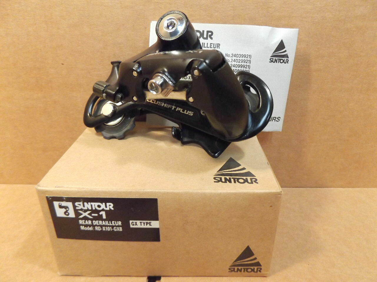 New-Old-Stock Suntour X-1 Rear Derailleur (Long Cage)...6 7 Speed Indexing