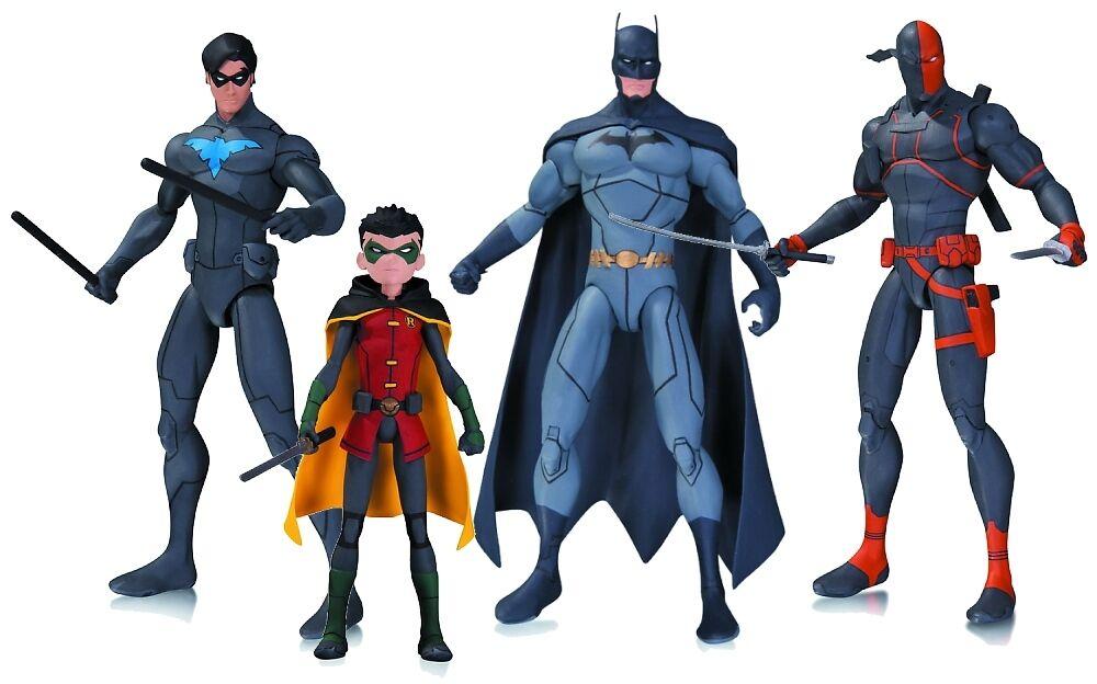 SON OF BATMAN DC ANIMATED 4 4 4 FIGURE SET  BATMAN  DEATHSTROKE  ROBIN  NIGHTWING  d4333b