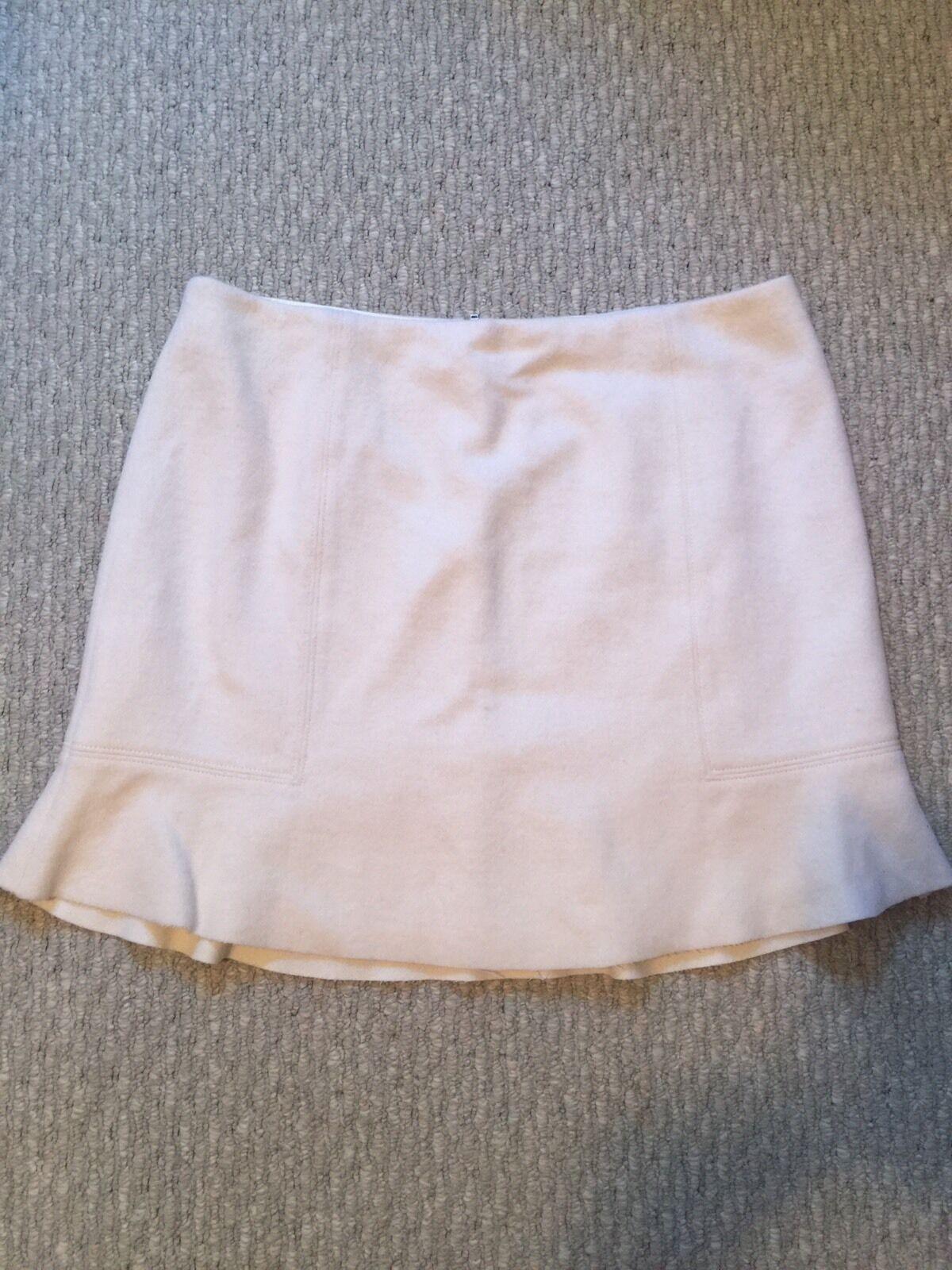 NWT NEW  J.Crew Madewell Boulevard Wool Flare Skirt In Ivory B2995 Size 12  88