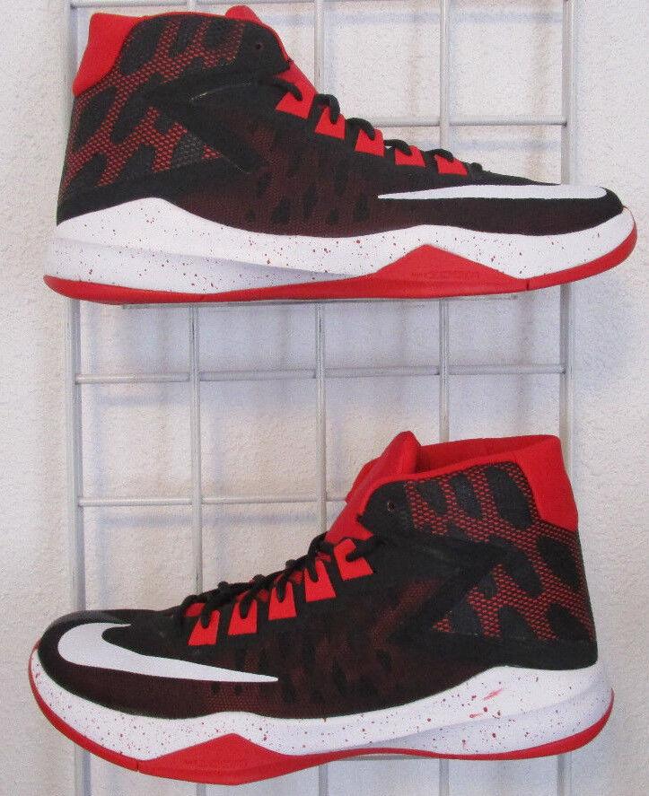 Men's Nike Zoom Devosion Sneakers, New Black Red White Sport Basketball Shoes 12