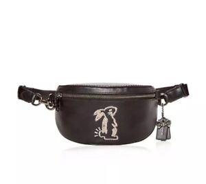 f774f7b5dff40 Image is loading Coach-x-Selena-Gomez-Bunny-Belt-Black-Leather-