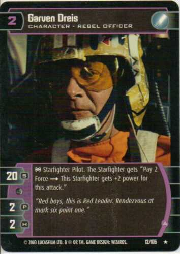 Star Wars TCG Garven Dreis #12 Rare Battle Of Yavin