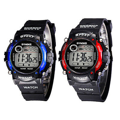 Multifunction Electronic Digital LED Sports Wrist Watch For Kids Child Boys D78