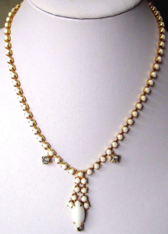 Collana Gioiello Antico Porcellana white Cristallo Diamante color gold