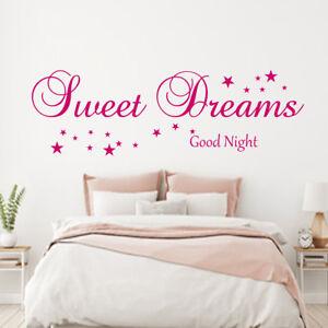 Details zu Sweet Dreams Good Night XXL Wandtatattoo Spruch Schlafzimmer m.  Sternen Wanddeko