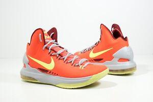 new concept d6c5d f5bf0 Image is loading Nike-KD-V-DMV-Bright-Crimson-Volt-Wolf-