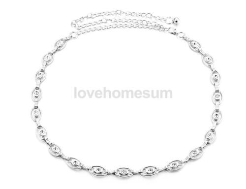 Diamante Frauen Kristall Bauch Taille Kette Gürtel Kettengürtel Mode Schmuck