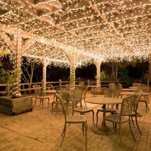 100M-600LED-Lichterkette-Warmweiss-Weihnachten-Hochzeit-Party-Decor-Beleuchtung