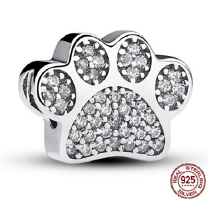 e89021f2d Authentic 925 Sterling Silver Charms, Paw Prints Charm Beads pandora ...