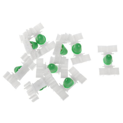 20 stk 51131960054 Autotür Verschlüsse für BMW E36 weiß /& Grün 35 x 22mm