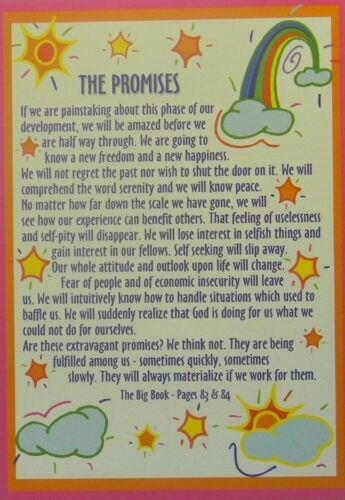 THE PROMISES RECOVERY GREETING CARD