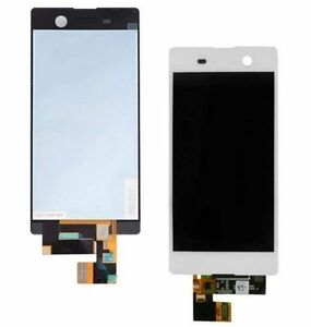 DISPLAY-TOUCH-SCREEN-VETRO-per-Sony-Xperia-M5-E5603-E5606-E5663-BIANCO-LCD