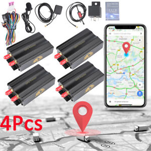 Lots 4 Car Gps Sms Gprs Tracker Real Time Tracking Device System