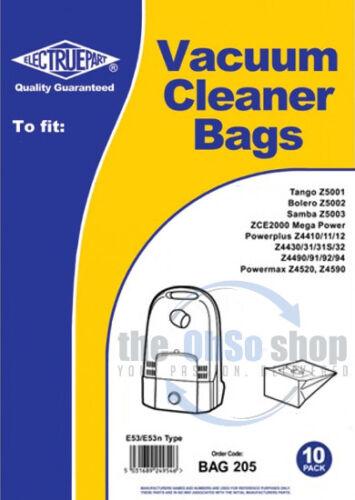 Tango Z5001 10 x ELECTROLUX Vacuum Cleaner Bags E53//53n Type Samba Z5003