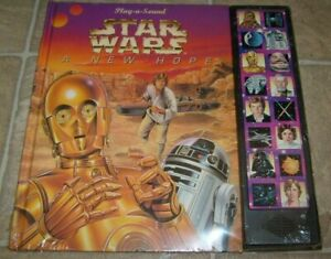 New 1997 Star Wars A New Hope Play A Sound Book R2 D2