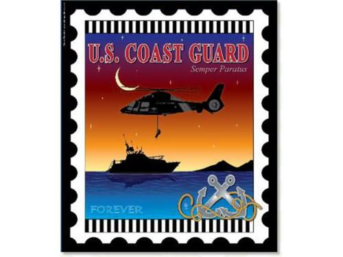 ZEBRA PATTERNS ZEB81268  PRINTED PANEL 6X7 STAMP COAST GUARD