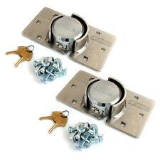 2 PK VOCHE HIGH SECURITY PADLOCK HASP SET VAN LOCKS + FIXING KITS -- KEYED ALIKE