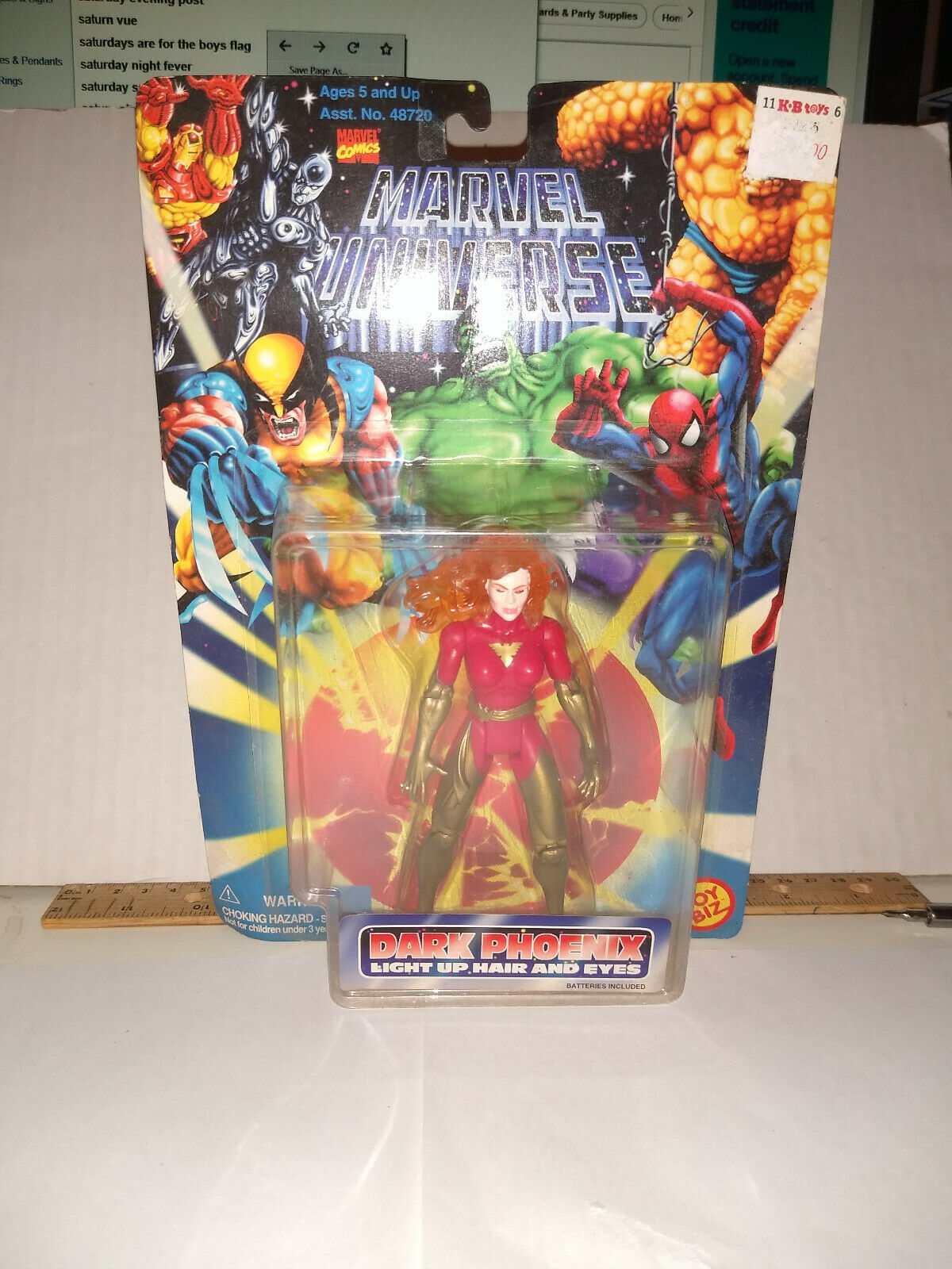 Toy Biz Marvel Comics Marvel Universe Dark Phoenix Light Up Hair and Eyes DP-10
