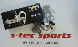 Aspecto-keo-2-MAX-Pedales-Bicicleta-De-Carreras-Blanco-Gris-Road-Agarre-GRAPAS