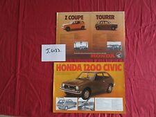 J.4033  / HONDA 1200 Civic : prospectus english text 1973