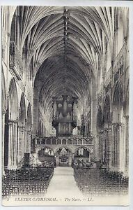 C4792cgt-UK-Exeter-Cathedral-The-Nave-vintage-postcard