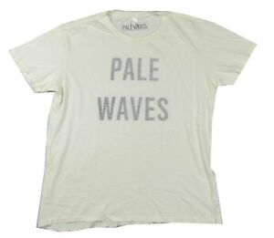 f71094776068a7 Pale Waves Inside Out Print Ivory White Distressed T Shirt New Band ...