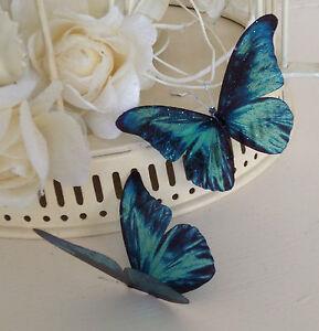 Teal butterflies 10 sparkling 3d vivid wedding table candle image is loading teal butterflies 10 sparkling 3d vivid wedding table junglespirit Choice Image