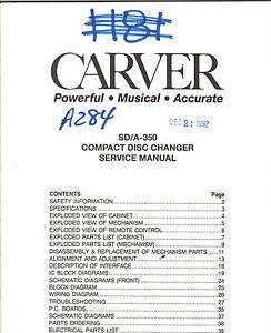 carver service manual sd a 350 compact disc changer cd original rh ebay com carter service manual cm448 carver pm1.5 service manual