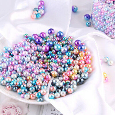 1Bag 6~8mm Teardrop ABS Imitation Pearl Loose Beads DIY Jewelry Findings Craft