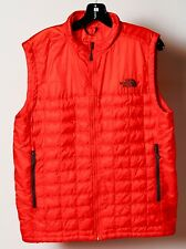 The North Face Men's Orange Quilted Thermoball Puffer Vest Jacket Size M Medium