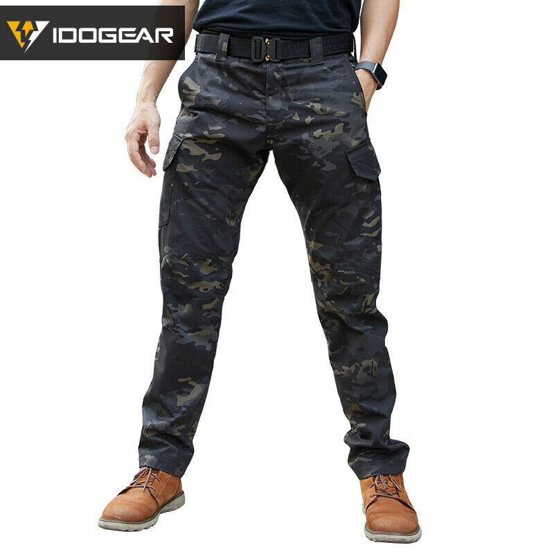 IDOGEAR Tactical Pants CP  Field Combat Multicam Trousers Camo Slim Fit Style  high quaity