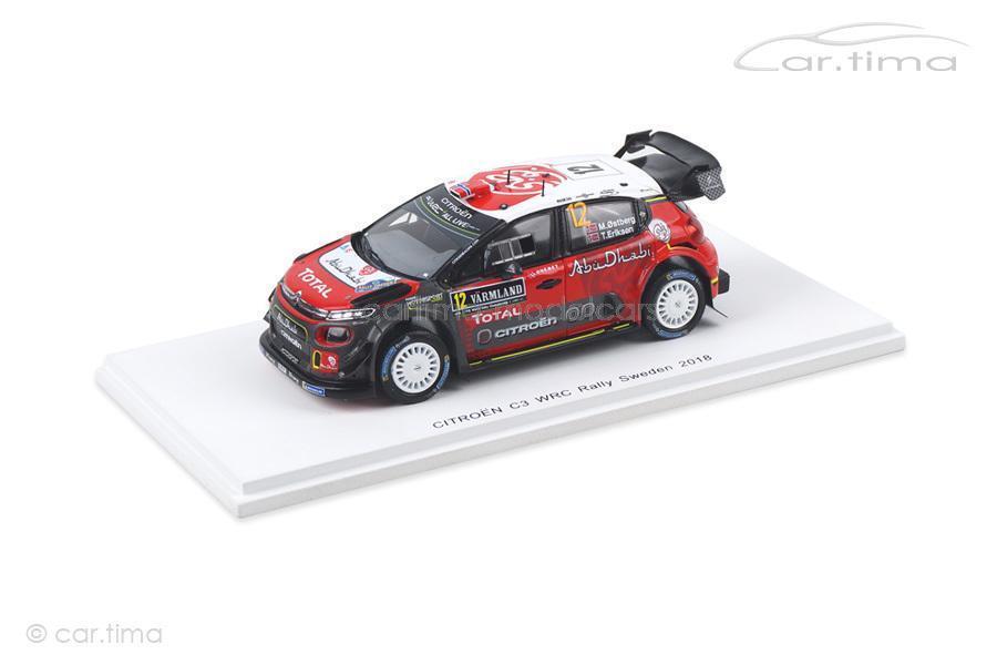 Citroen c3 WRC-Rally Sweden 2018-Ostberg Eriksen-SPARK - 1 43 - s5965