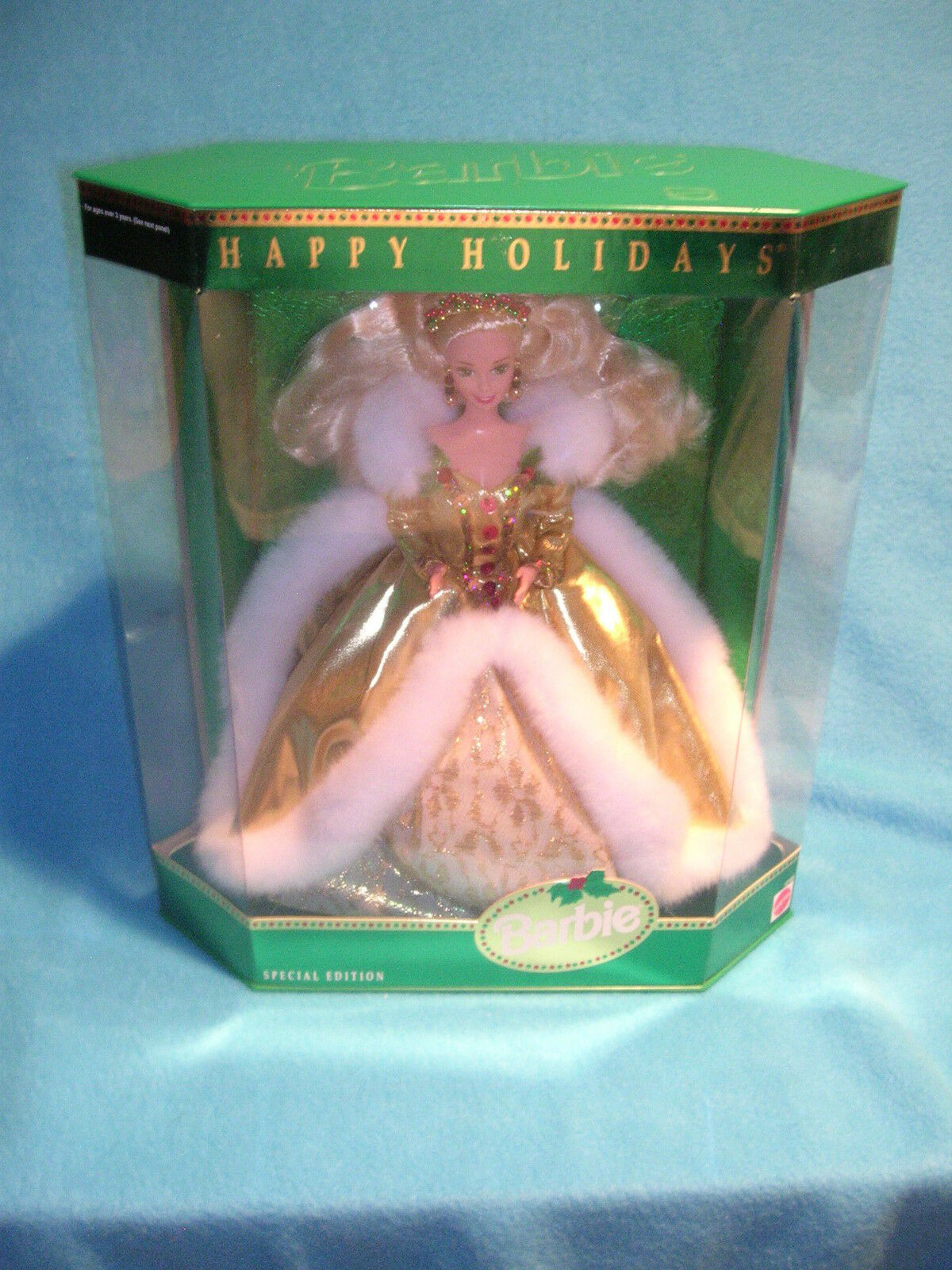 Barbie Happy Holidays Special Edition 1994 NIB Gold Dress