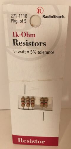 1.5k- 1//2 Watt 5/% Tolerance 5 In Pk New Carbon Resistors 1k-Ohm 4.7k- 2.2k-