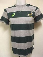 SOUTH AFRICA SPRINGBOKS RUGBY STRIPED TEE SHIRT BY ASICS ADULTS MEDIUM BRAND NEW
