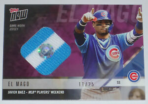 cf9ac1f70 2018 JAVIER BAEZ TOPPS NOW GAME USED CUBS MLB PLAYERS WEEKEND JERSEY ...